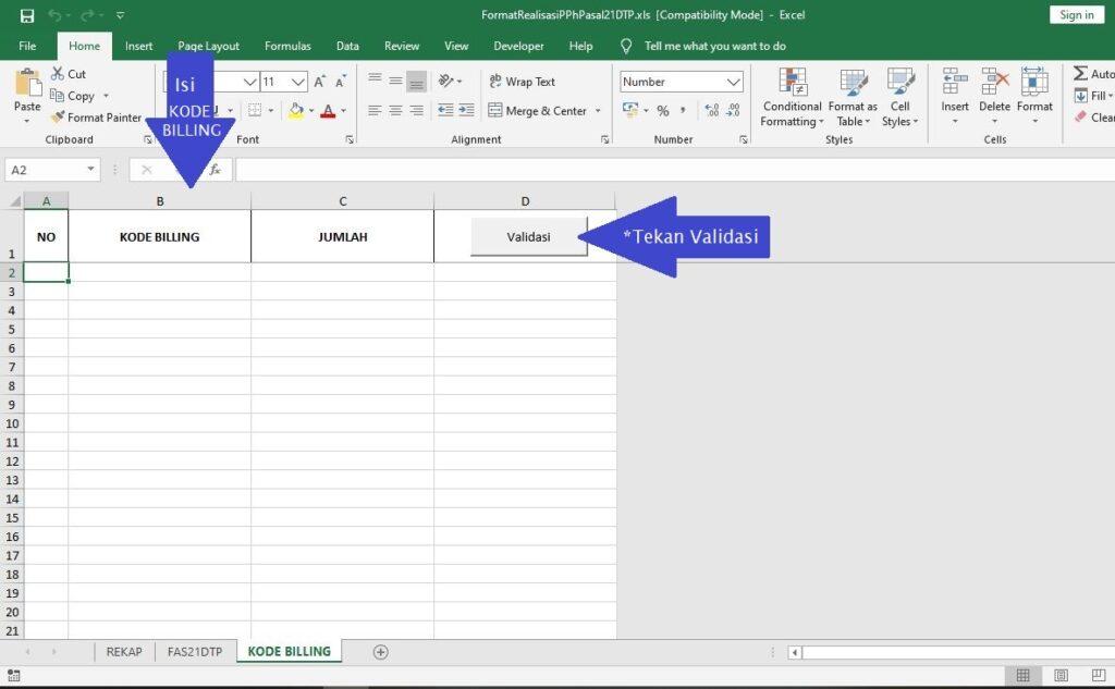 Laporan Realisasi Pph 21 Dtp Dengan Format Baru Ah Tax Consulting